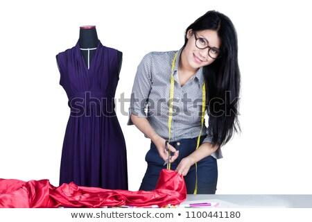 Vrouwelijke kleermaker geïsoleerd witte vrouw mode Stockfoto © Elnur