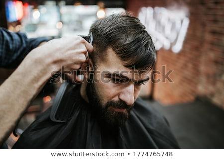 sarışın · saç · eski · tarak · çalışma · kadın - stok fotoğraf © gemenacom