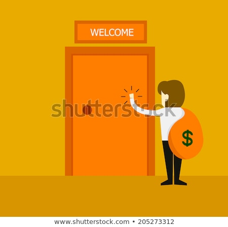Hand is knocking on Mortgages door Stock photo © stevanovicigor