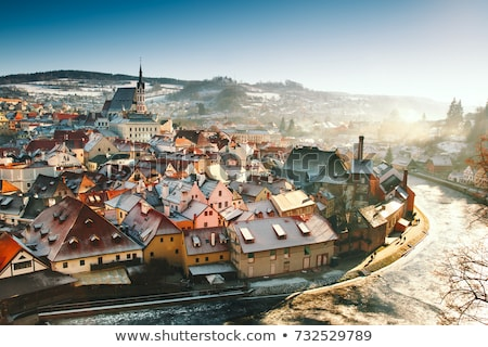 Cesky Krumlov in winter, Czech Republic Stock photo © phbcz