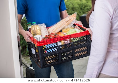 Stock photo: Driver Delivering Online Grocery Order
