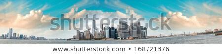 Panorama New York City, Jersey City, Brooklyn and Governors Isla Stock photo © hanusst