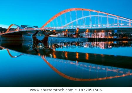 мнение моста ночь Лион Франция воды Сток-фото © vwalakte