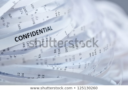 shredding documents for security stock photo © voysla