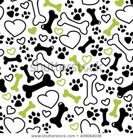 verde · sem · costura · coração · padrão · projeto · papel - foto stock © slunicko
