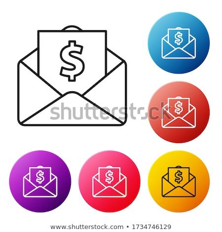 деньги конверт копия пространства знак письме банка Сток-фото © fantazista