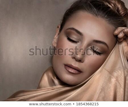 moda · mulher · beleza · dourado · dourado · make-up - foto stock © victoria_andreas
