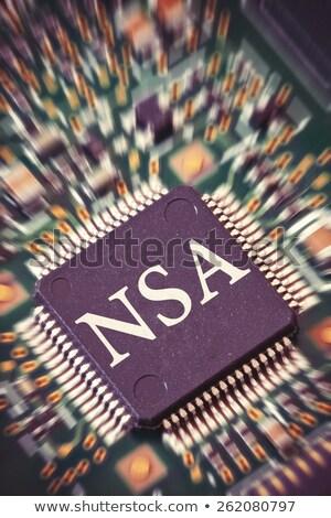 マイクロチップ マクロ ショット 回路基板 ビッグ インターネット ストックフォト © creisinger