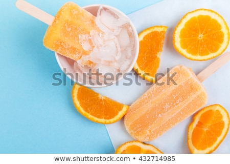 Homemade orange popsicles Stock photo © BarbaraNeveu