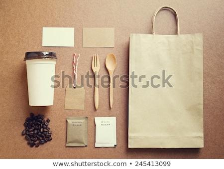 Café identité rétro Photo stock © happydancing