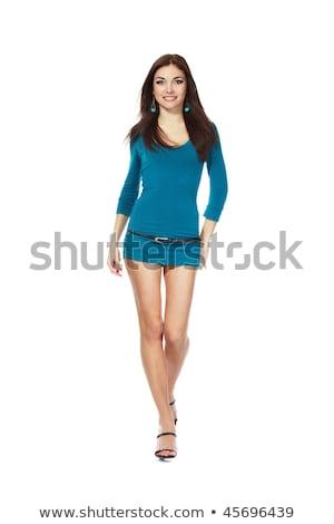 молодые · брюнетка · позируют · пляж · женщину · Sexy - Сток-фото © acidgrey