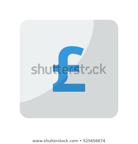 Funt niebieski placu ikona ilustracja biały Zdjęcia stock © nickylarson974
