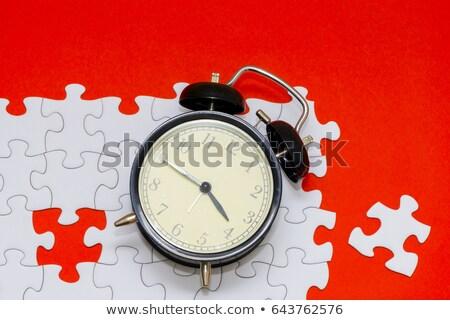 Fecha tope rompecabezas que falta piezas brillante verde Foto stock © tashatuvango