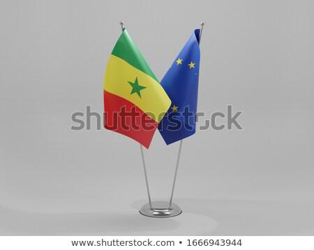 Europese unie Senegal vlaggen puzzel geïsoleerd Stockfoto © Istanbul2009