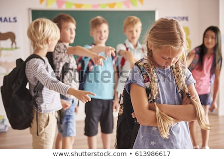 student being bullied by a group of students stock photo © wavebreak_media