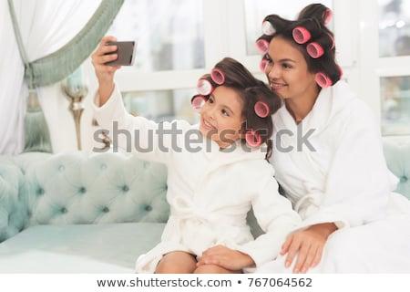 kadın · saç · vektör · format · kız · moda - stok fotoğraf © balasoiu