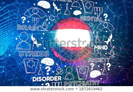 Stockfoto: Nerveus · wanorde · medische · 3d · render · verslag · Blauw