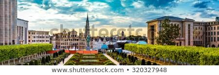Bruxelas · pôr · do · sol · ver · histórico · centro · belo - foto stock © artjazz