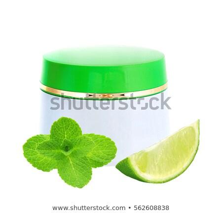 üveg · üveg · ásványvíz · cseppek · egészség · jég - stock fotó © tetkoren