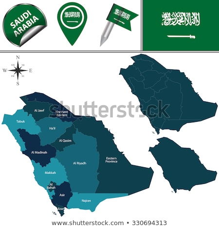 map of saudi arabia the region asir stock photo © istanbul2009