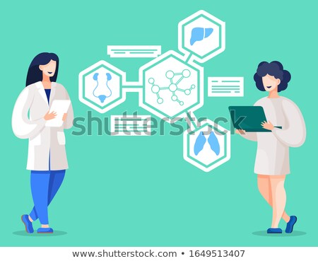 madness on the display of medical tablet stock photo © tashatuvango