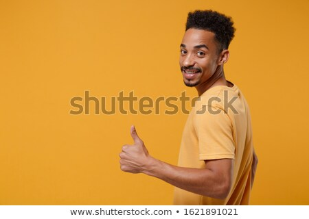 Back view portrait of afro american man Stock photo © deandrobot