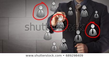Hire sales man mark Stock photo © fuzzbones0