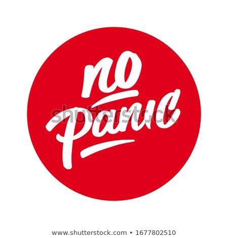 パニック メッセージ 帳 紙 ペン ストックフォト © fuzzbones0