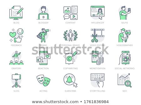 ノートパソコン · 緑 · ベクトル · アイコン · デザイン · ノートブック - ストックフォト © rizwanali3d