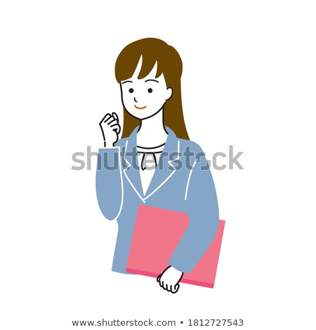 Vector of businesswoman holding a file. Stock photo © Morphart