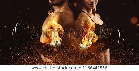 Fire workout Stock photo © alphaspirit