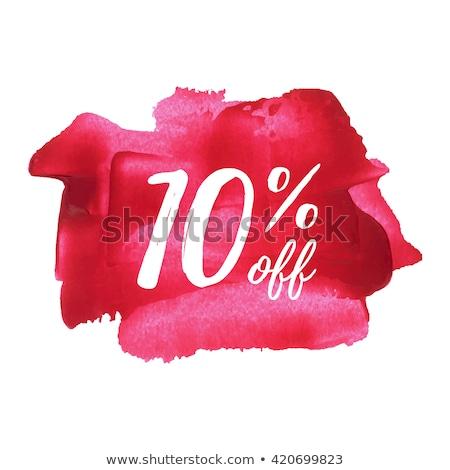 save 10 percent Pink Vector Button Icon Stock photo © rizwanali3d
