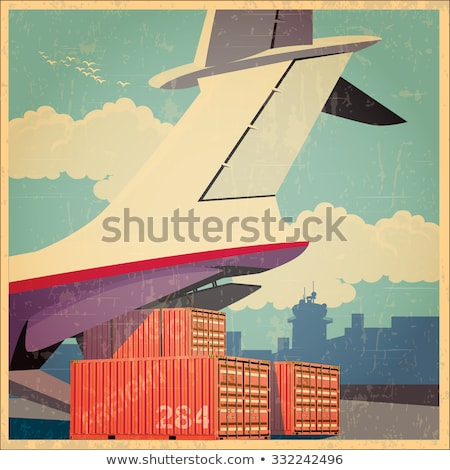 air freighter old poster stock photo © tracer
