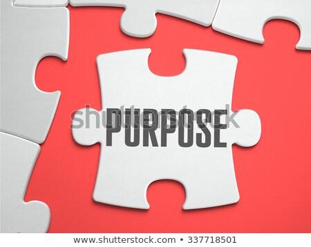 purpose   puzzle on the place of missing pieces stock photo © tashatuvango