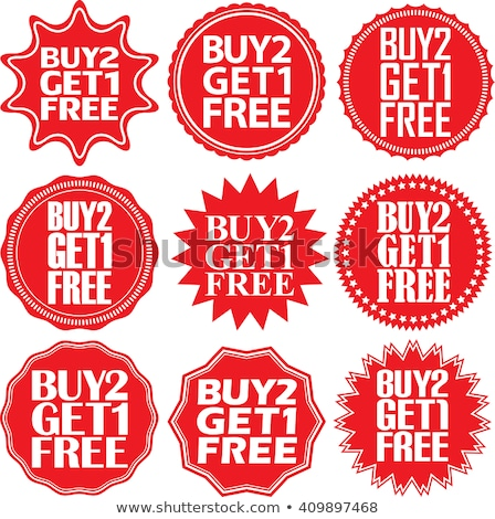 Buy 2 get 1 free Blue Vector Icon Stock photo © rizwanali3d