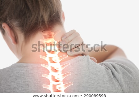 kobieta · cierpienie · ból · szyi · biały · niebieski · mięśni - zdjęcia stock © wavebreak_media