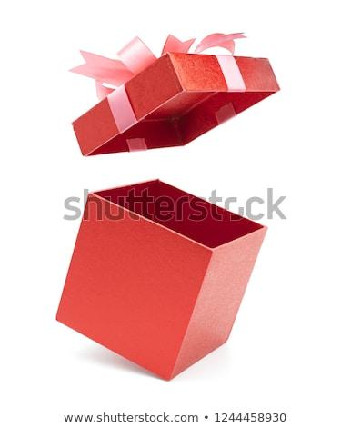 Magie rouge boîte étoiles star couleur Photo stock © -Baks-