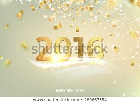 с Новым годом 2016 серебро карт искусства аннотация Сток-фото © rommeo79