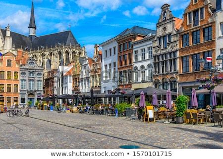 estátua · Áustria · Bélgica · torre · branco · história - foto stock © jorisvo