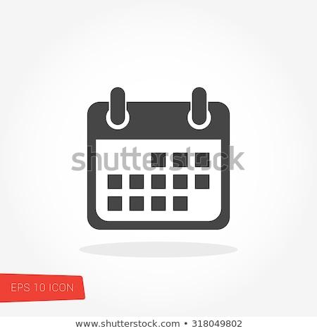Naptár ikon illusztráció felirat terv stílus Stock fotó © kiddaikiddee