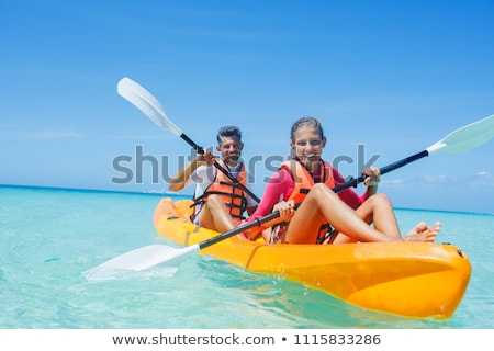 Kayak experiencia ilustración hombre río funny Foto stock © adrenalina