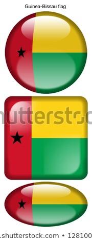 Гвинея флаг овальный кнопки серебро изолированный Сток-фото © Bigalbaloo
