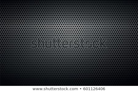 Chrome Perforated Metal Grid Stock photo © derocz