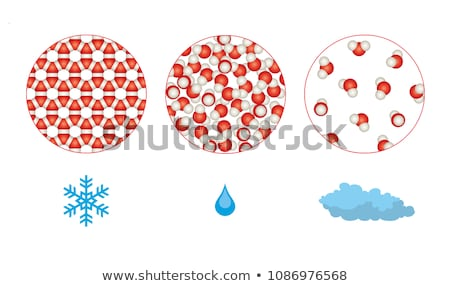 Diagrame of matter in different states Stock photo © bluering