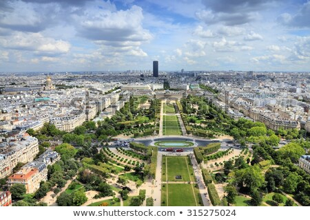 Eiffel Tower from Champ de Mars park in Paris, France. Vintage Stock photo © photocreo