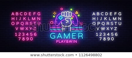 video game joystick banner template Stock photo © vector1st