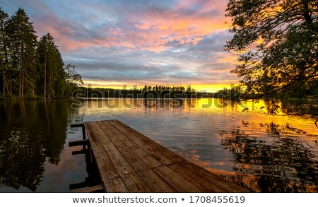 Beautiful lake at sunset Stock photo © Yongkiet
