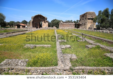 ancient ruins of villa adriana the hadrians villa piazza d stock photo © vladacanon