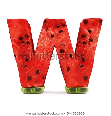 A letter W for watermelon Stock photo © bluering