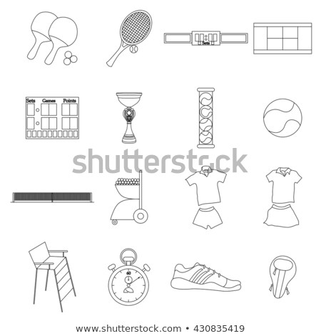 Flaming table tennis set Stock photo © bluering